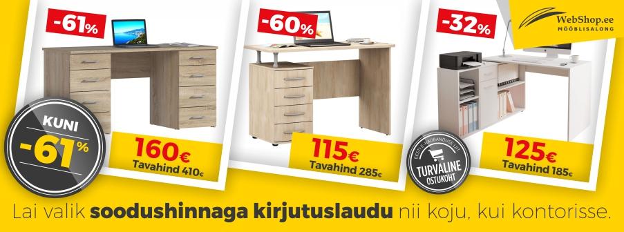 Arvuti- ja kirjutuslauad kuni -61%!