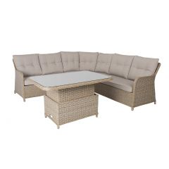 Komplekt PACIFIC laud ja nurgadiivan