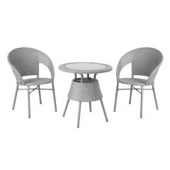 Komplekt PAULA laud ja 2 tooli