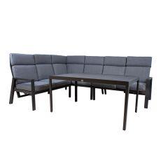 Komplekt CASTEN laud ja nurgadiivan