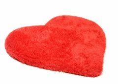 Pikakarvaline vaip Soft Uni Heart 100x100cm, punane