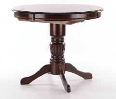 Pikendatav ümmargune laud Margo, 90-125x90xK75 cm, tume pähkel