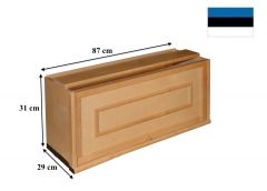 Moodulriiul väike puituksega, 87x29xK31 cm, kasepuit, lakitud